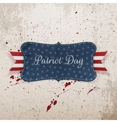 Patriot day festive banner on grunge background vector