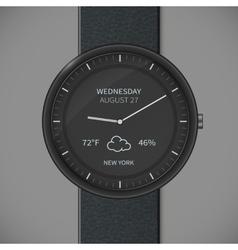 Smartwatch mockup - weather vector image vector image