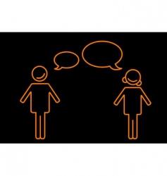 talking boy and girl vector image