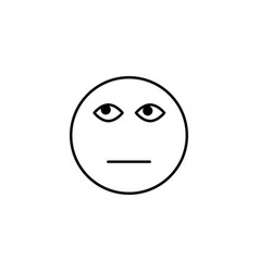 tired of emoticon vector image