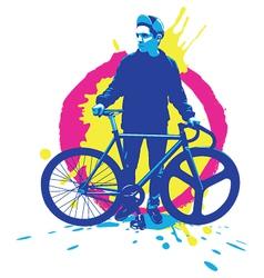 Urban rider vector image vector image