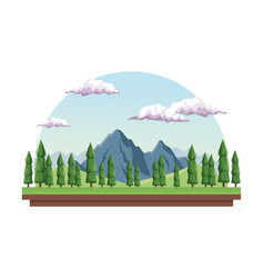 White background with daytime landscape in half vector