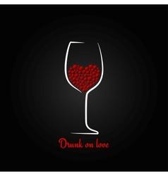 wine glass love concept design background vector image