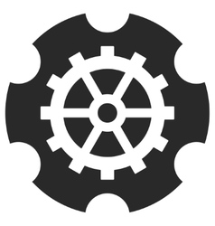 Gearwheel eps icon vector