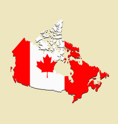 canada map flag vector image