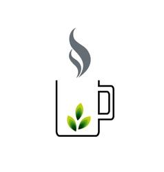 Organic tea vector