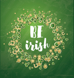 be irish saint patricks day background with vector image