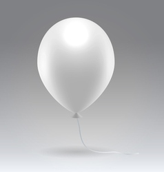White glossy inflatable balloon vector