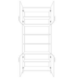 Open cabinet vector