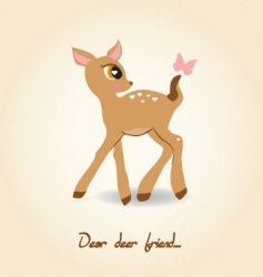Dear deer vector