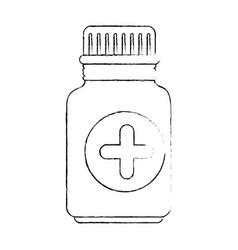 Medicine drugs bottle vector