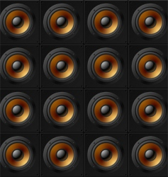 Wall of speakers vector