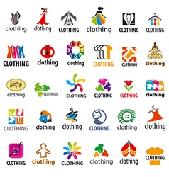 Large set of logos clothing vector