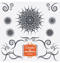Vintage geometric ornaments decorative design vector