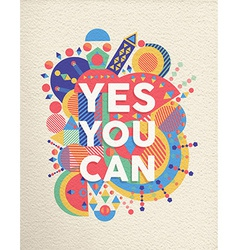 Yes you can quote poster design vector