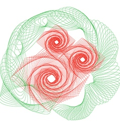 Flowers rose outline drawing vector