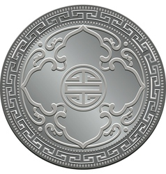 Great britain silver coin vector