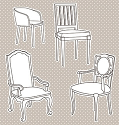 Armchairsset vector