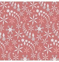 Seamless christmas pattern crystal light gray vector