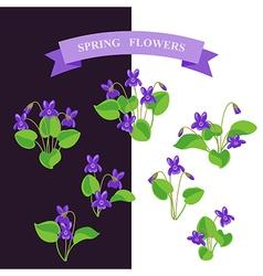 Violet set vector