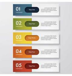 5 steps color banner template vector