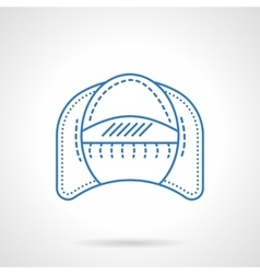Living room arm chair flat line icon vector image