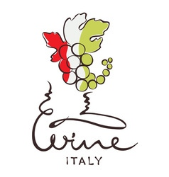 Logotype sign - wine from Italy vector image