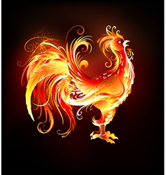Fire rooster vector