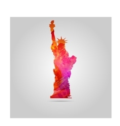 Watercolor Statue Of Liberty icon vector image
