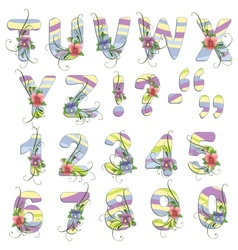 Cute spring alphabet vector
