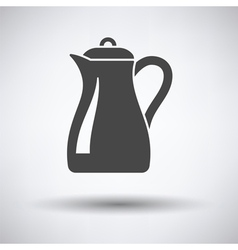 Glass jug icon vector