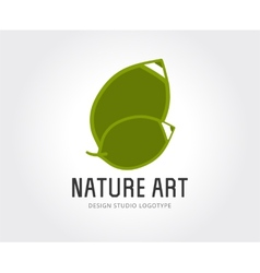 Abstract design studio logo template for vector image vector image