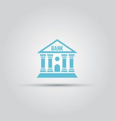 bank isolated colored icon vector image vector image