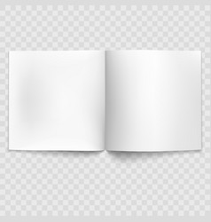blank open magazine isolated eps 10 vector image