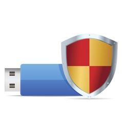 flash guard icon vector image vector image