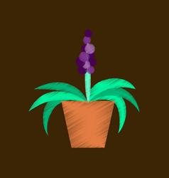 Flat shading style icon hyacinth vector