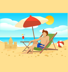 Flat summer vacation concept vector