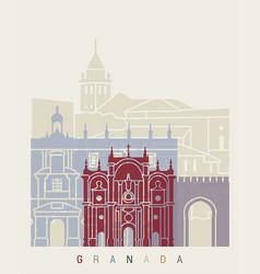 Granada skyline poster vector