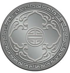Great britain silver coin vector