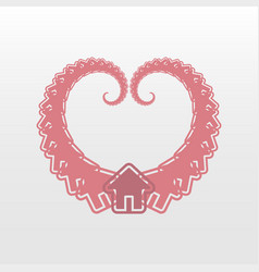 heart house logo icon vector image