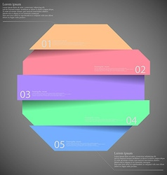 Infographic templete with motif of octagon divided vector image vector image