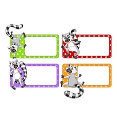 Label design with lemur vector image