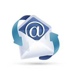 Open email letter vector