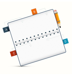 Paper Notebook on White Background vector image vector image