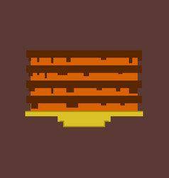 pixel icon in flat style pancake with jam vector image vector image