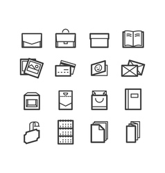 printing house icons vector image
