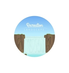 Recreation landscape circle icon vector