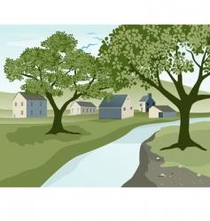 River landscape vector