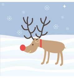 Rudolph reindeer christmas holiday cartoon vector