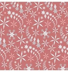 Seamless christmas pattern crystal light gray vector